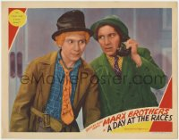 4k228 DAY AT THE RACES LC 1937 Harpo Marx listens to Chico Marx say he doesn't need a horse doctor!