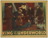 4k264 KING OF THE UNDERWORLD LC 1939 Humphrey Bogart surrounded by men with guns & Kay Francis!