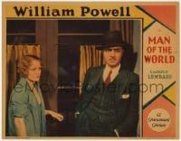 4k273 MAN OF THE WORLD LC 1931 c/u of Wynne Gibson staring at concerned William Powell, ultra rare!