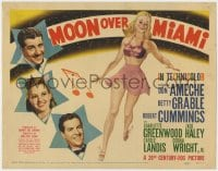 4k170 MOON OVER MIAMI TC 1941 Don Ameche, Bob Cummings, sexy pin-up art of Betty Grable!
