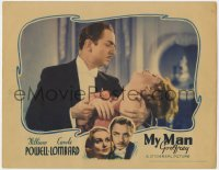 4k280 MY MAN GODFREY LC 1936 butler William Powell holding unconscious Carole Lombard, ultra rare!