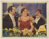 4k282 NIGHT AT THE OPERA LC #2 R1948 Groucho Marx & Sig Ruman vie for Margaret Dumont's affections!