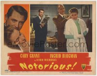 4k286 NOTORIOUS LC #8 1946 Cary Grant watches Calhern put jewelry on Ingrid Bergman, Hitchcock