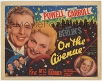 4k174 ON THE AVENUE TC 1937 Dick Powell, Madeleine Carroll, Alice Faye, Irving Berlin, very rare!