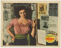 4k289 OUTLAW LC 1941 sexy young Jane Russell by wanted posters, aborted 1st release, Howard Hughes!