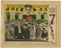 4k306 SEVEN CHANCES LC 1925 Stoneface Buster Keaton with hundreds of brides in church, ultra rare!