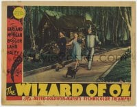 4k341 WIZARD OF OZ LC 1939 Judy Garland, Ray Bolger, Jack Haley & Toto on the Yellow Brick Road!