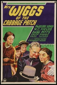 4k018 MRS. WIGGS OF THE CABBAGE PATCH 1sh 1934 stone litho of W.C. Fields with kids & Zasu Pitts!