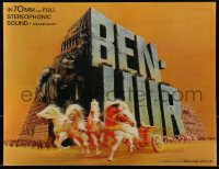 4k124 BEN-HUR lenticular 11x14 standee R1969 Charlton Heston, William Wyler classic epic, rare!