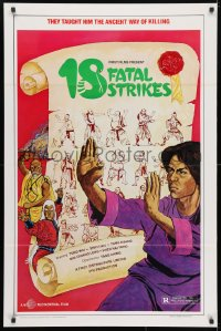 4r502 18 FATAL STRIKES 1sh 1981 martial arts, they taught him the ancient way of killing!