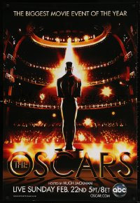 4r509 81ST ANNUAL ACADEMY AWARDS 1sh 2009 art of the Oscar statuette in front of huge audience