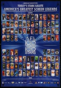 4r071 AFI'S 100 YEARS 100 STARS 27x39 video poster 1999 classic posters w/Gilda, Casablanca & more