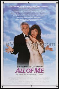 4r517 ALL OF ME 1sh 1984 wacky Steve Martin, Lily Tomlin, the comedy that proves one's a crowd!