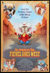 4r519 AMERICAN TAIL: FIEVEL GOES WEST 1sh 1991 animated western, there's a new mouse in town!