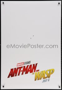 4r520 ANT-MAN & THE WASP teaser DS 1sh 2018 Marvel, Paul Rudd and Evangline Lilly in title roles!