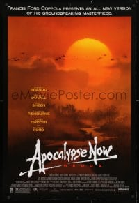 4r522 APOCALYPSE NOW 1sh R2001 Francis Ford Coppola, Bob Peak art of choppers over river!