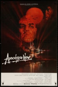 4r521 APOCALYPSE NOW 1sh 1979 Francis Ford Coppola, classic Bob Peak art of Brando and Sheen!