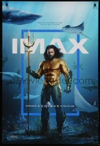 4r525 AQUAMAN IMAX DS 1sh 2018 DC, Jason Mamoa in title role with great white sharks and more!
