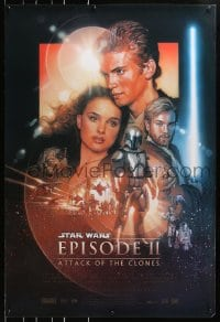 4r528 ATTACK OF THE CLONES style B 1sh 2002 Star Wars Episode II, artwork by Drew Struzan!