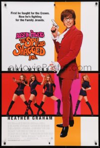 4r530 AUSTIN POWERS: THE SPY WHO SHAGGED ME 1sh 1999 Mike Myers, super sexy Heather Graham!