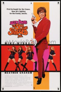 4r531 AUSTIN POWERS: THE SPY WHO SHAGGED ME DS 1sh 1999 Mike Myers, super sexy Heather Graham!