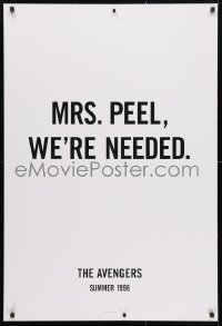 4r534 AVENGERS teaser 1sh 1998 Ralph Fiennes, Sean Connery, Uma Thurman, Mrs. Peel, we're needed!