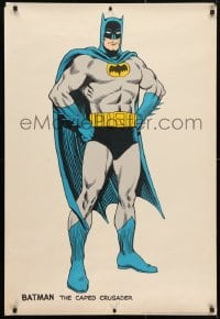 4r136 BATMAN 27x40 commercial poster 1966 cool full-length artwork of The Caped Crusader!