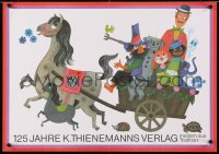4r187 125 JAHRE K. THIENEMANNS VERLAG 2-sided 17x23 German stage poster 1974 art of a horse!