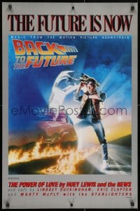 4r084 BACK TO THE FUTURE 23x35 music poster 1985 art of Michael J. Fox & Delorean by Drew Struzan!