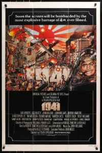 4t010 1941 int'l 1sh 1979 Spielberg, art of John Belushi, Dan Aykroyd & cast by McMacken!