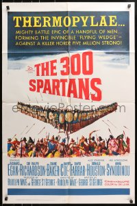 4t015 300 SPARTANS 1sh 1962 Richard Egan in Ancient Greece, The mighty battle of Thermopylae!