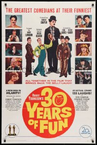 4t014 30 YEARS OF FUN 1sh 1963 Charley Chase, Buster Keaton, Laurel & Hardy!