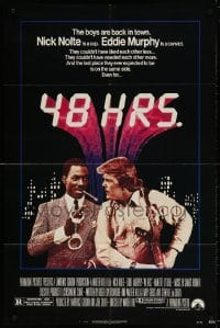 4t017 48 HRS. 1sh 1982 Nick Nolte is a cop who hates Eddie Murphy who is a convict!