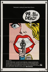 4t019 99 & 44/100% DEAD 1sh 1974 directed by John Frankenheimer, wonderful pop art image!