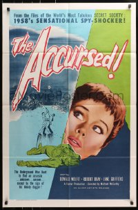 4t021 ACCURSED 1sh 1958 from the files of the world's most fabulous secret society!