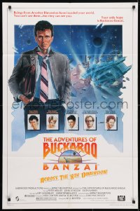 4t030 ADVENTURES OF BUCKAROO BANZAI 1sh 1984 Peter Weller science fiction thriller!