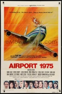 4t034 AIRPORT 1975 1sh 1974 Charlton Heston, Karen Black, George Akimoto aviation disaster art!