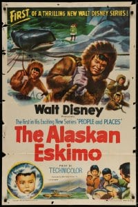 4t035 ALASKAN ESKIMO 1sh 1953 Walt Disney, art of arctic natives, People & Places series!