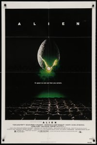 4t036 ALIEN NSS style 1sh 1979 Ridley Scott outer space sci-fi monster classic, cool egg image!