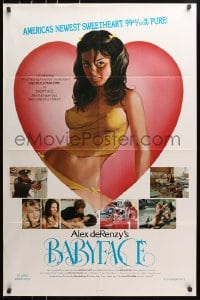 4t061 BABYFACE 1sh 1977 classic Alex de Renzy, sexy art of America's newest sweetheart!