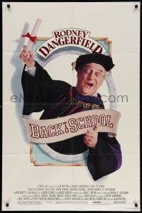 4t064 BACK TO SCHOOL 1sh 1986 Rodney Dangerfield goes to college with his son, great image!