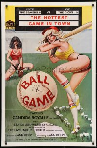 4t069 BALL GAME 1sh 1980 baseball sex, the hottest game in town, Candida Royalle as Lolita!