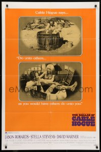 4t070 BALLAD OF CABLE HOGUE 1sh 1970 Sam Peckinpah, Robards & sexy Stella Stevens in wash tub!