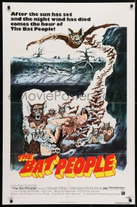 4t080 BAT PEOPLE revised 1sh 1974 AIP, Stewart Moss, cool horror artwork, It Lives By Night!
