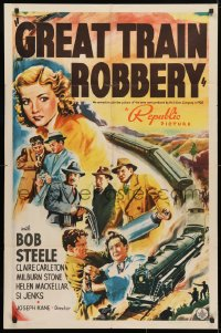 4t350 GREAT TRAIN ROBBERY 1sh 1941 Bob Steele, no connection with the 1903 Edison version!