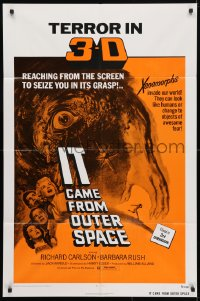 4t447 IT CAME FROM OUTER SPACE 1sh R1972 Jack Arnold classic 3-D sci-fi, cool artwork!