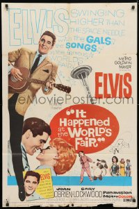 4t448 IT HAPPENED AT THE WORLD'S FAIR 1sh 1963 Elvis Presley swings higher than the Space Needle!