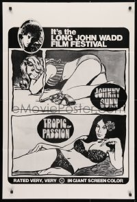 4t460 JOHNNY GUNN/TROPIC OF PASSION 1sh 1970s it's the Long John Wadd Holmes film festival!