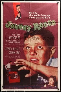 4t461 JOHNNY ROCCO 1sh 1958 Richard Eyer, Stephen McNally, drug smuggling!