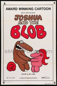 4t464 JOSHUA & THE BLOB 1sh 1973 rare and unusual full one-sheet for award winning cartoon short!